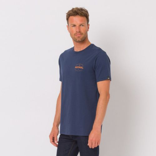 ANIMAL MENS T SHIRT.NEW CLASSICO NAVY COTTON SHORT SLEEVED TOP CREW TEE 8W 2 F94