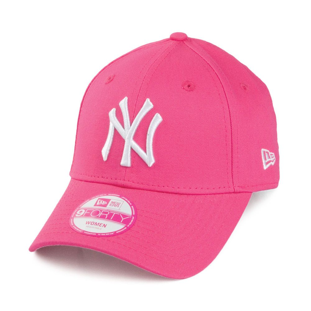 38706836f NEW ERA WOMENS 9FORTY BASEBALL CAP.GENUINE NEW YORK YANKEES PINK ADJUSTABLE  HAT