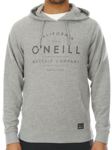 O'NEILL MENS HOODY.NEW ATHLETIC GREY HOODED TOP SURF HOODIE JUMPER N0 1400 8001