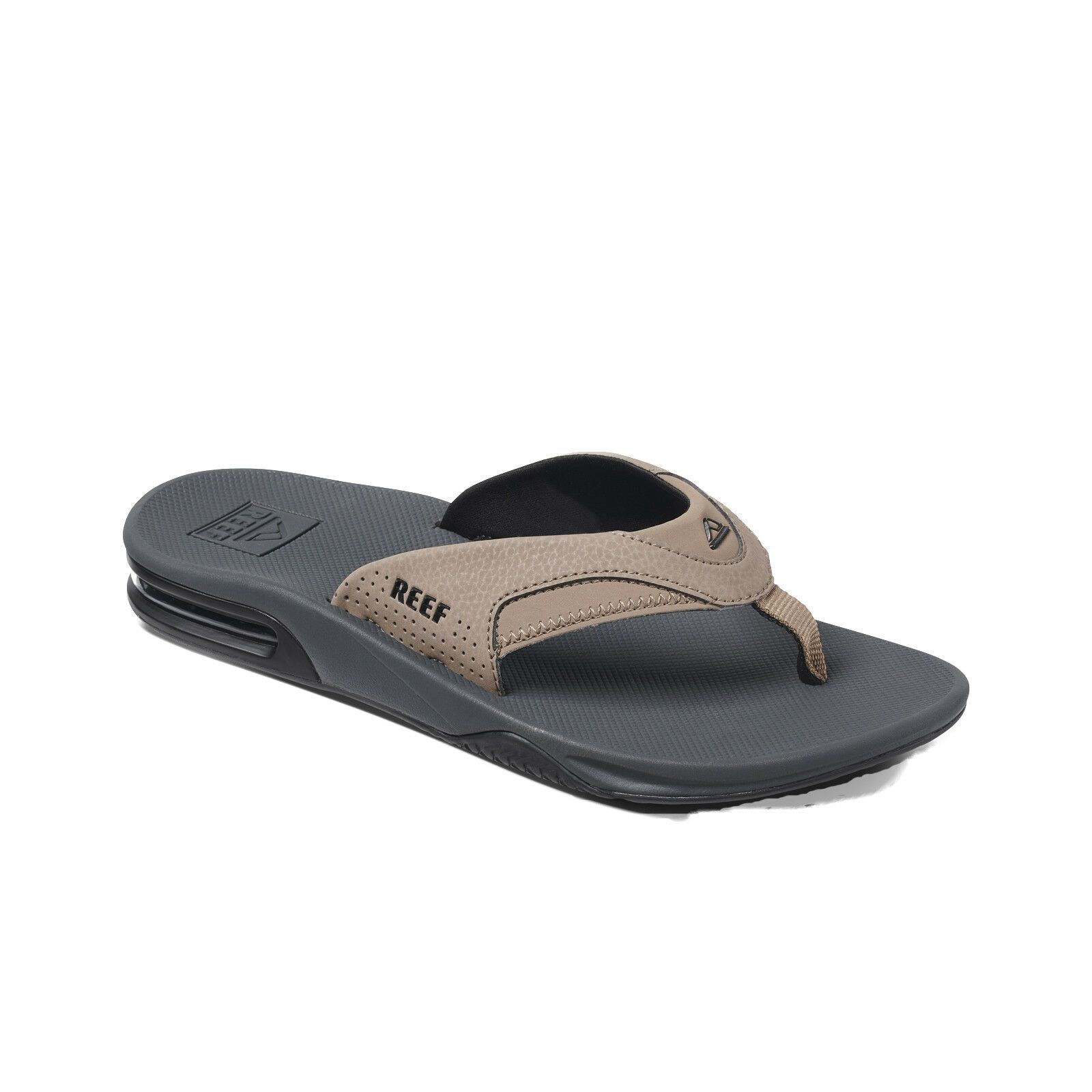7eb560ae4e35 REEF MENS FLIP FLOPS.FANNING TAN BLACK ARCH SUPPORT THONGS SANDALS SHOES 9S  6 TB